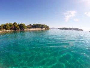 Krknjasi islands forming the Blue Lagoon