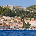 View of Fortica, arriving to Hvar