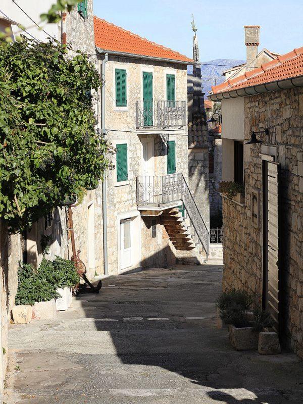 Romantic streets in Supetar