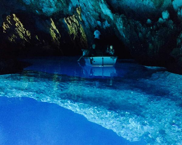 Exploring inside the Blue Cave