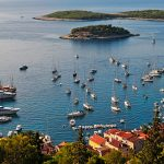 Aerial view of Hvar