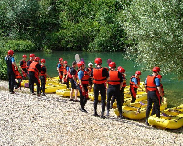 Our rafting tour starts from hidden beach