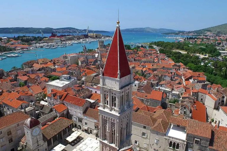 Cathedral of St. Lawrence, Trogir, aerial photo