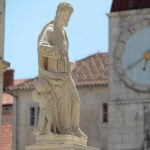 Statue of St. Lawrence on main square in Trogir
