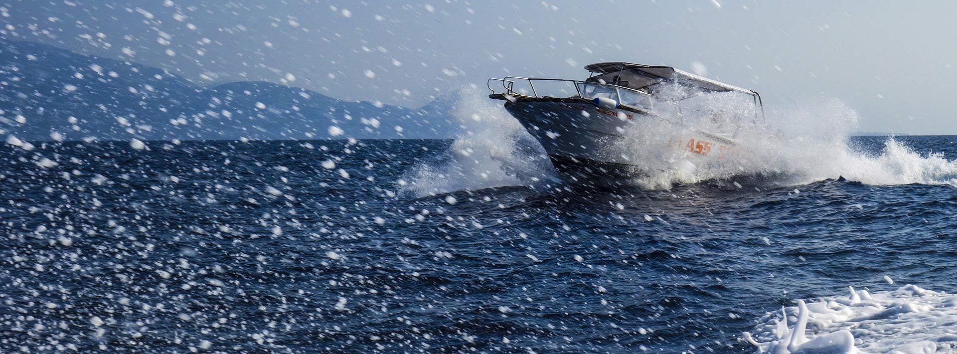Speedboat trips from Split, speeding on the Adriatic