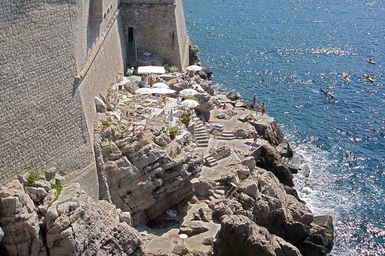 Caffee bar Buza on Walls of Dubrovnik