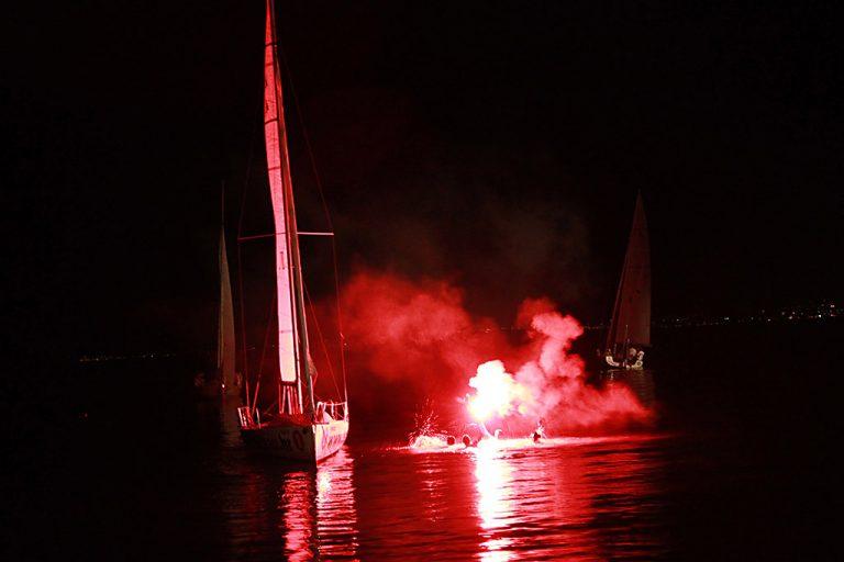 Celebrating in the sea