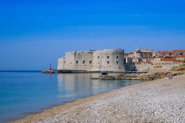 beach near Dubrovnik old town