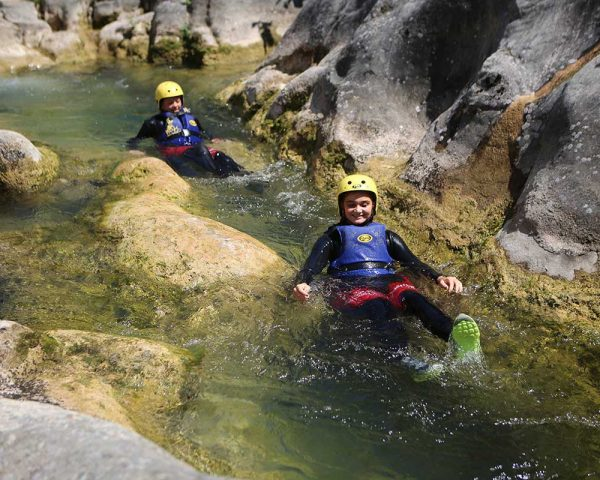 Gliding through Cetina river canyon