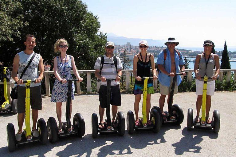 Group Photo on Segway Tour Split