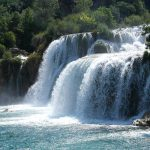 Foaming waterfalls of Krka river