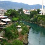Neretva River passing through Mostar