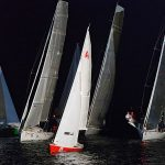 Sailing on Pequena Regata Nocturna