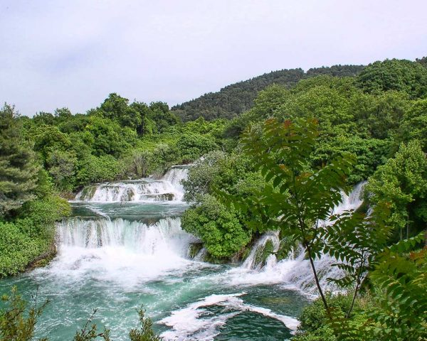 View of the waterfalls from Krka view point