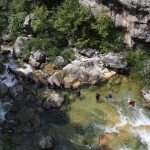 Water in Cetina canyon is controlled by dams