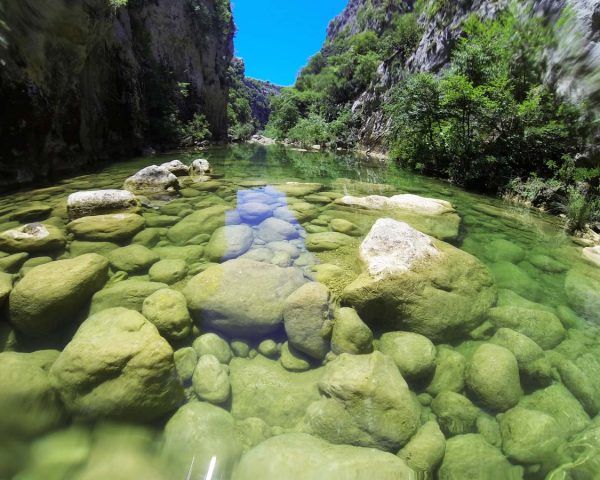 beautiful cetina river, cetina canyon