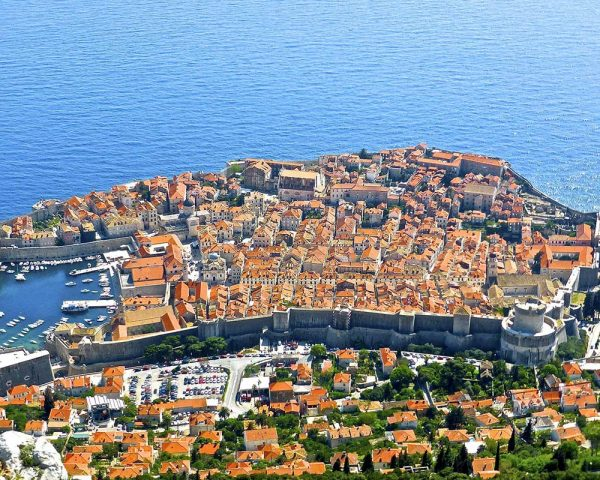 View on Dubrovnik from Srdj