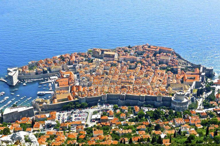 View on Dubrovnik from Srdj