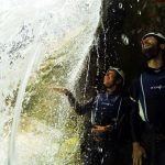 Behind the waterfall on Cetina river