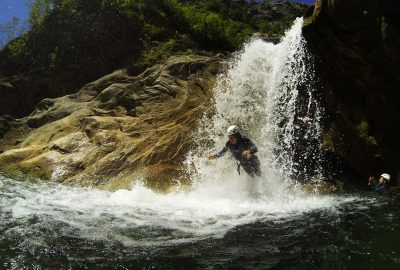 Jump from small fall on Cetina river