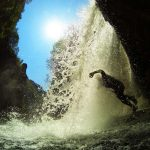 Jump through the waterfall, Cetina canyoning tour