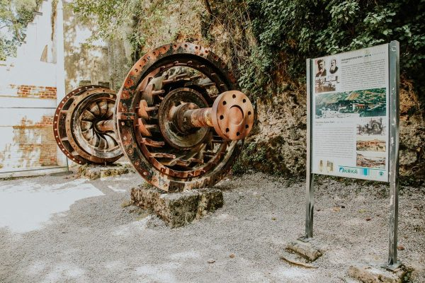 remains of old Krka Hydro Dam
