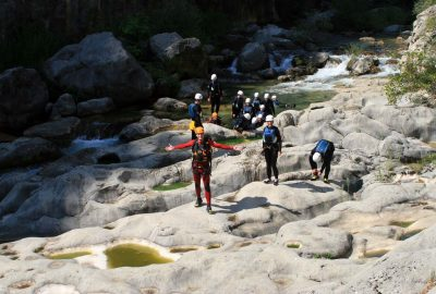 Conquering the rocky shore of Cetina