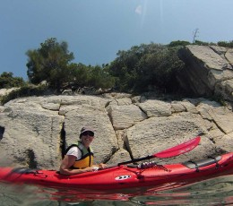 Enjoying sea kayaking in Split