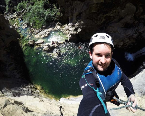 Selfie on top of the rock, Cetina canyoning