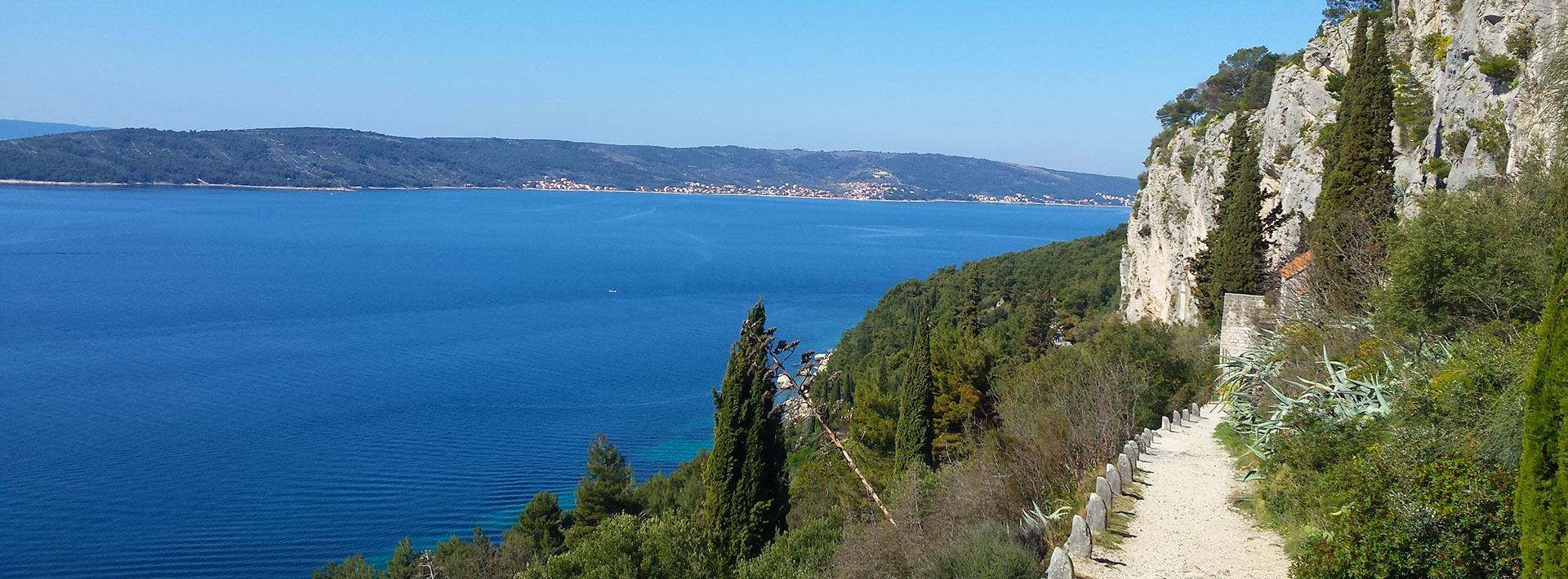 Marjan hill, Split, view on Ciovo from Marjan trail