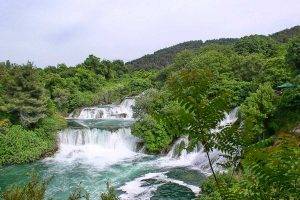 Skradinski buk view on waterfalls