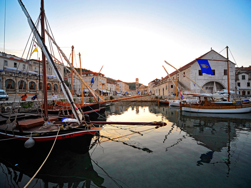 Beautiful Hvar port