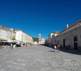 Town square in Hvar