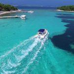 Arriving to the Blue Lagoon, Croatia