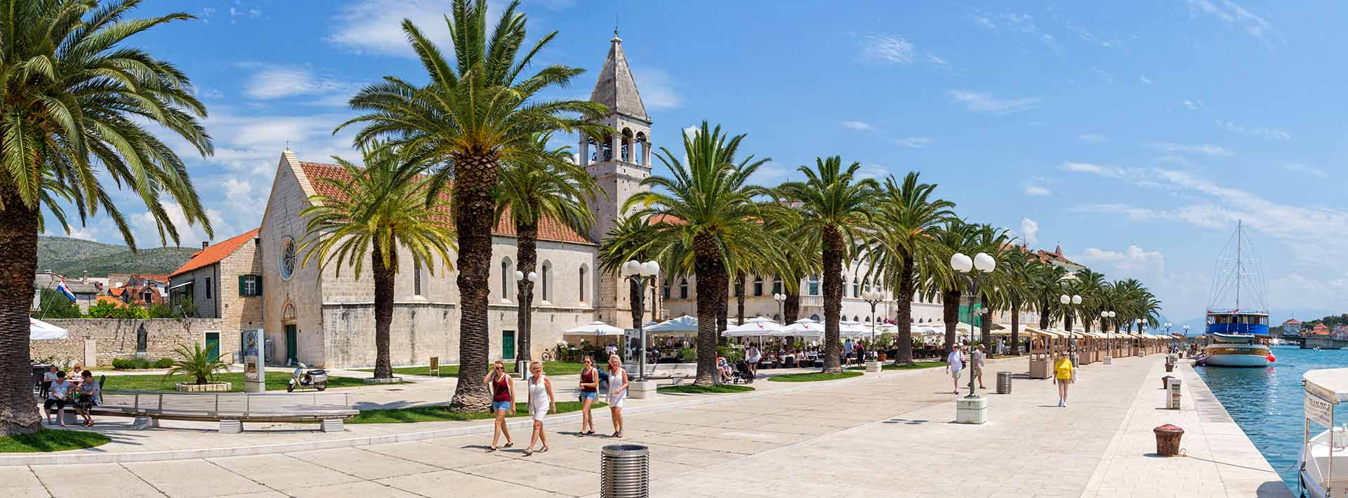 Trogir, UNESCO World Heritage Site, promenade
