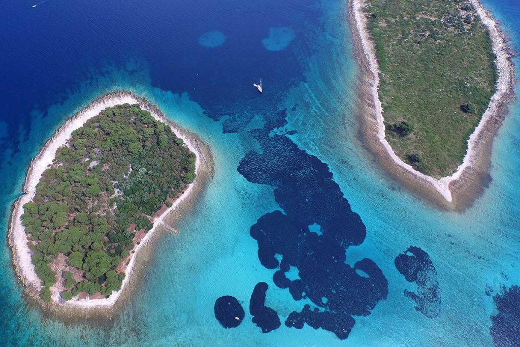 Krknjasi islands of the Blue Lagoon Split