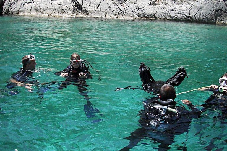 Preparing for a dive