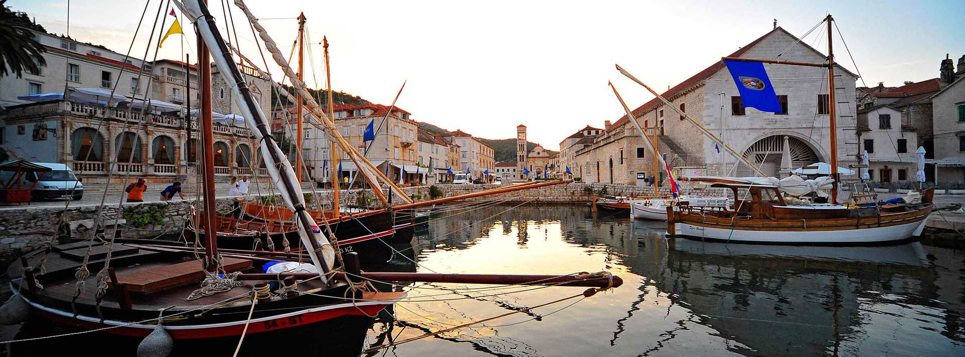 island Hvar, view on Hvar town