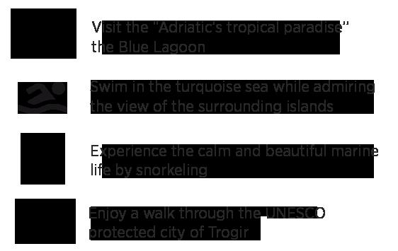 Tour highlights, blue lagoon tour from Split