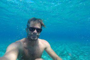 Underwater selfie in Budikovac lagoon