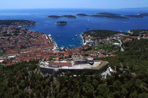 Aerial photo of Fortica, town Hvar