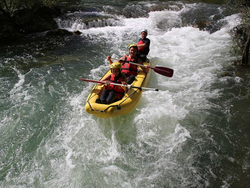 Having fun on Rapids of Cetina river