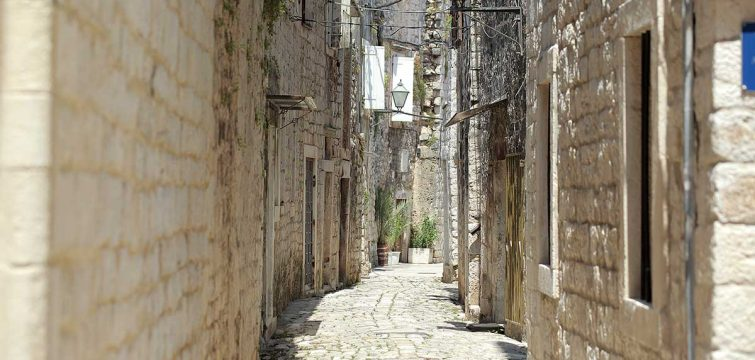 Charming street in Trogir