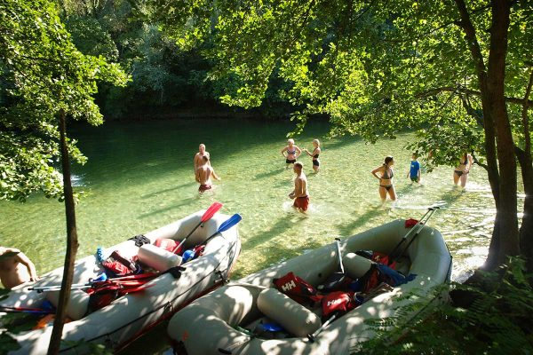 swimming-stop-on-rafting-tour-from-split