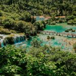 Above view on Krka swimming area