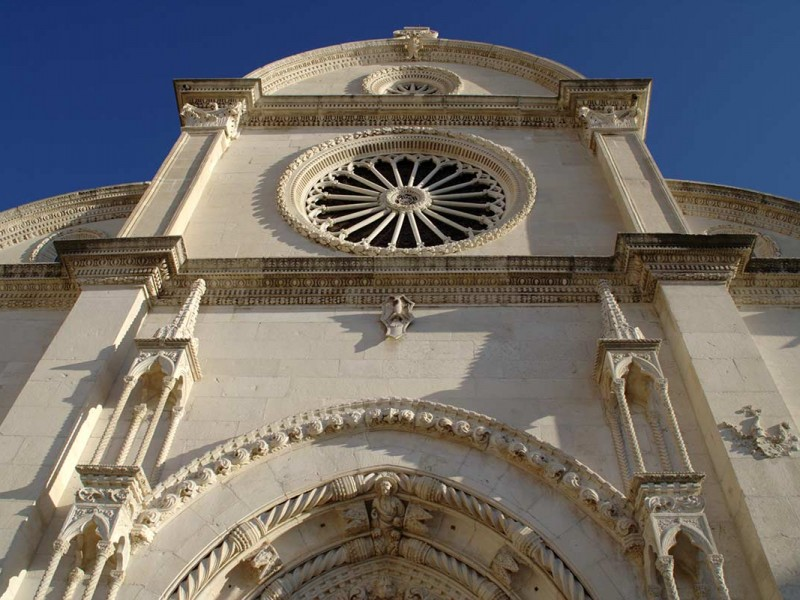 Entrance to Cathedral of St. Jacob in SIbenik