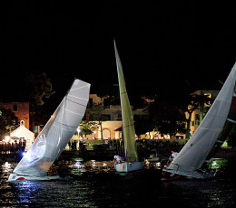 Compiting on Pequena Regata Nocturnain Postira