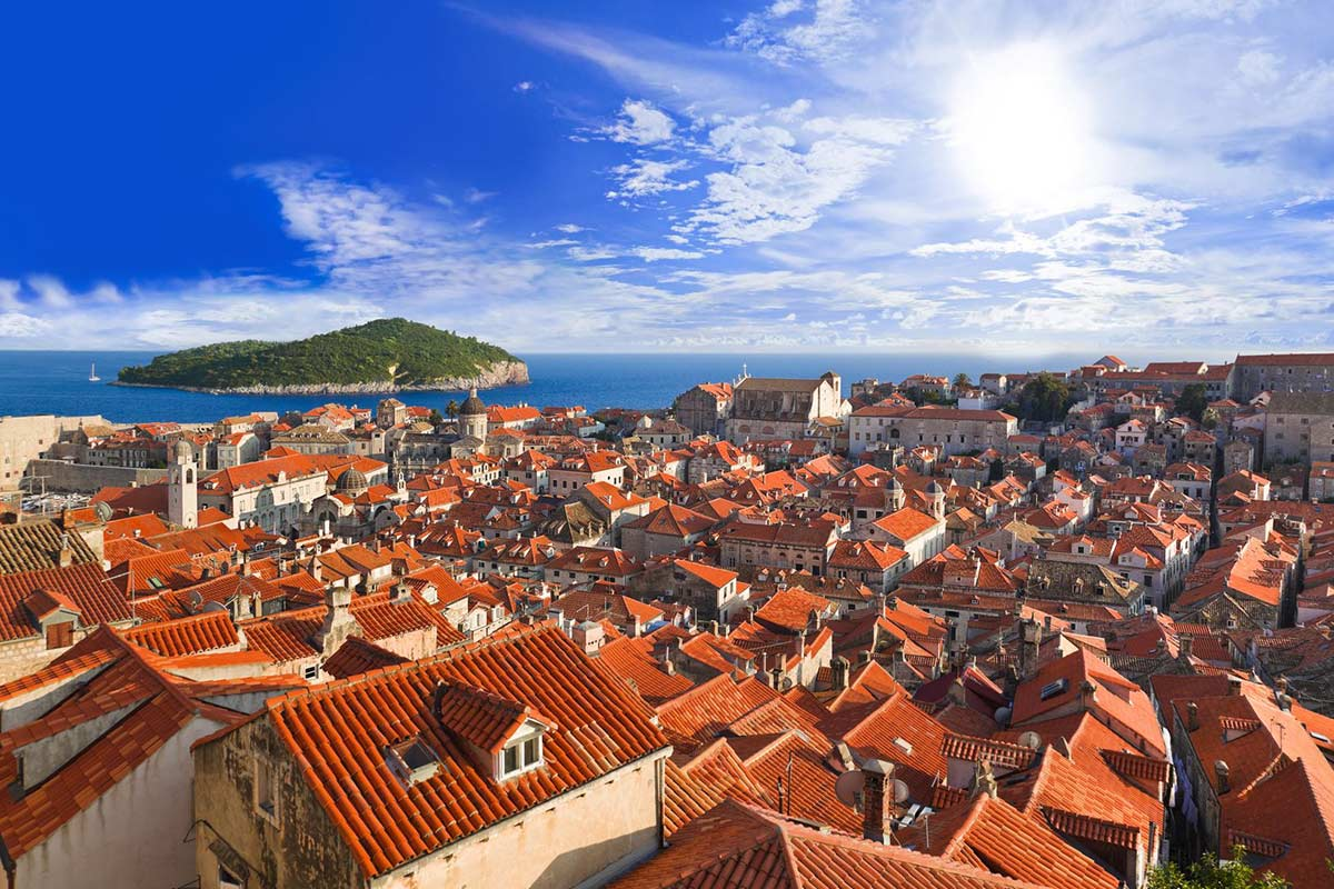 teracotta rooftops in Dubrovnik old town