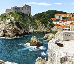 Clifs and fortress in Dubrovnik