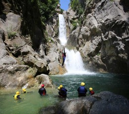 Jump from the rock at Great Gubavica water fall (optional)